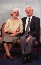 Sütő András és felesége Éva