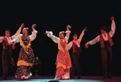 Táncoló nők és férfiak vidám örömünnepe. A flamenco táncokra jellemző szenvedély, erotika, erotikus mozgásvilág, vad indutatok a spanyol folklór egyik legcsodálatosabb kincse.