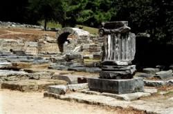 Az ókori olimpiák stadionjának bejárata Olümpiában.