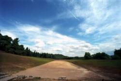 Az ókori olimpia futópályája Olimpiában