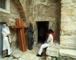 A Szentsír templom udvara